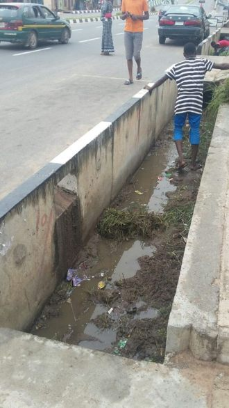 The state of the drainage system after. However, tax force official wasn't satisfied