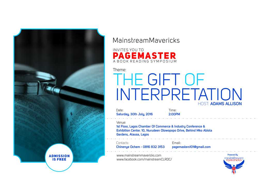Pagemaster - The Gift Of Interpretation